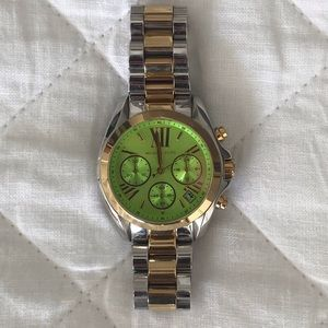 Michael Kors Two Toned Iridescent Watch